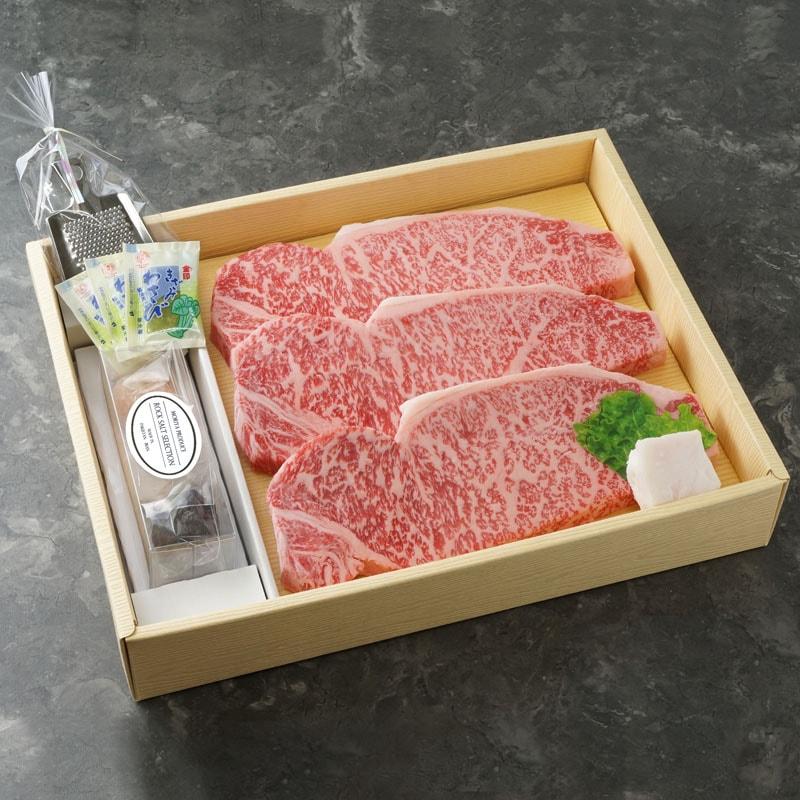 五つ星神戸牛サーロインステーキ&3種の岩塩セット