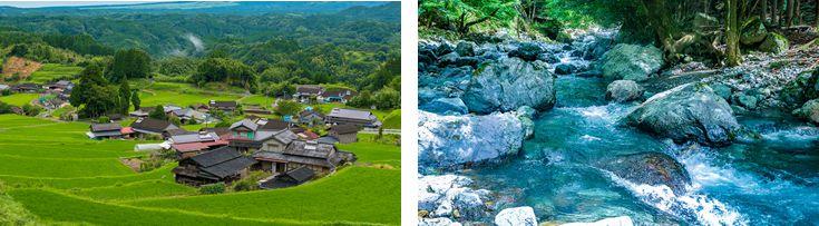 菅地域は、自然が豊かな地域です。