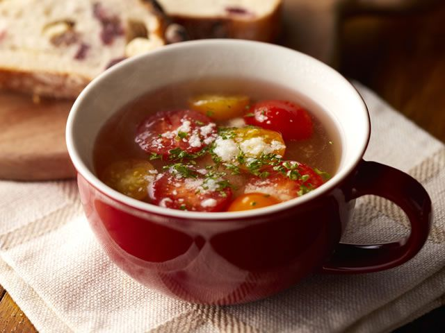 トマトのカップスープ