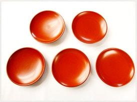 銀朱取り皿4.0