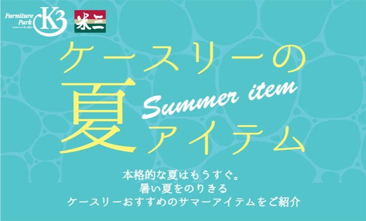 2019ケースリーの夏物アイテム!