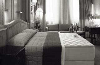 豪奢な部屋に佇むベッド