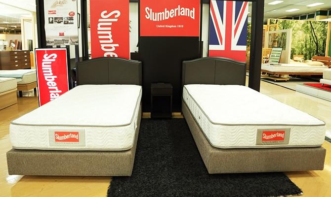 展示された2台のスランバーランドのベッド