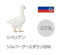シベリアンシルバーグースダウン93%