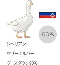 シベリアンマザーシルバーグースダウン90%