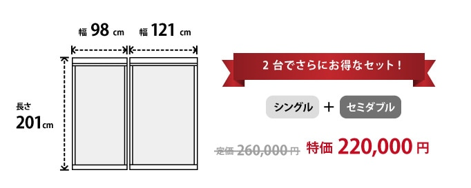 flat20 シングル+セミダブルセット
