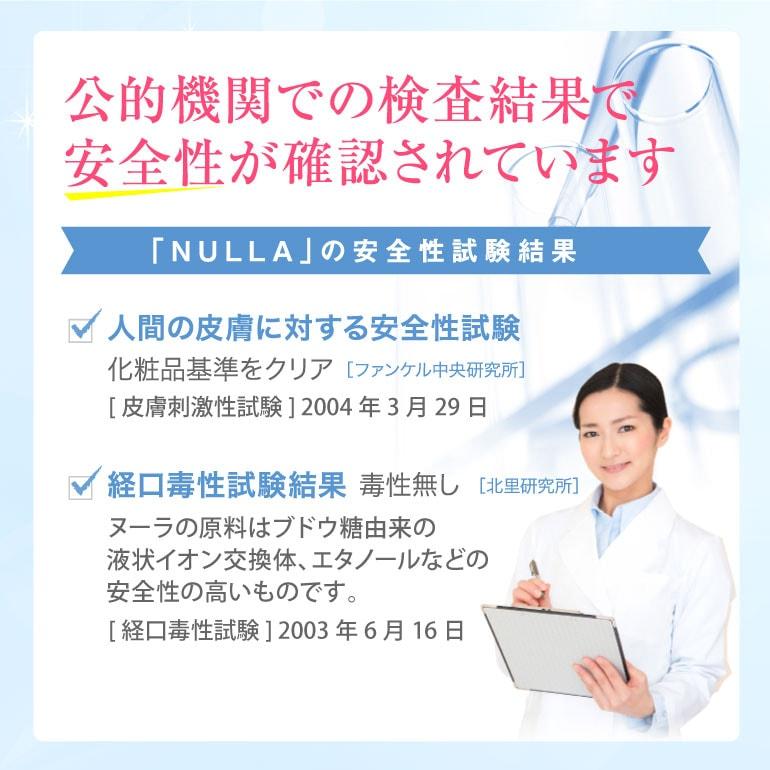 NULLAの安全性試験結果