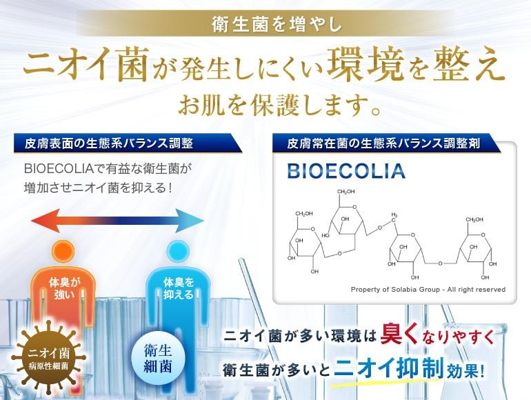 衛生菌を増やし、ニオイ菌が発生しにくい環境を整え、お肌を保護
