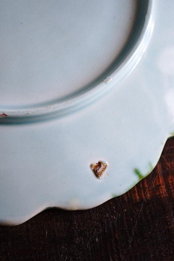 アンティーク バルボティーヌの朝顔のプレートW25.5cm gc-795