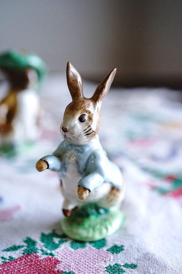 ビアトリクスポッターのPeter Rabbit ベズウイック製Beswick 1948年 gt-873