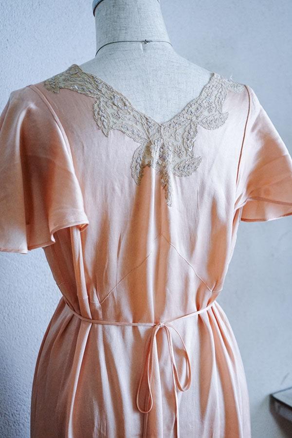 ヴィクトリア時代のシルクサテンのドレス gd-200