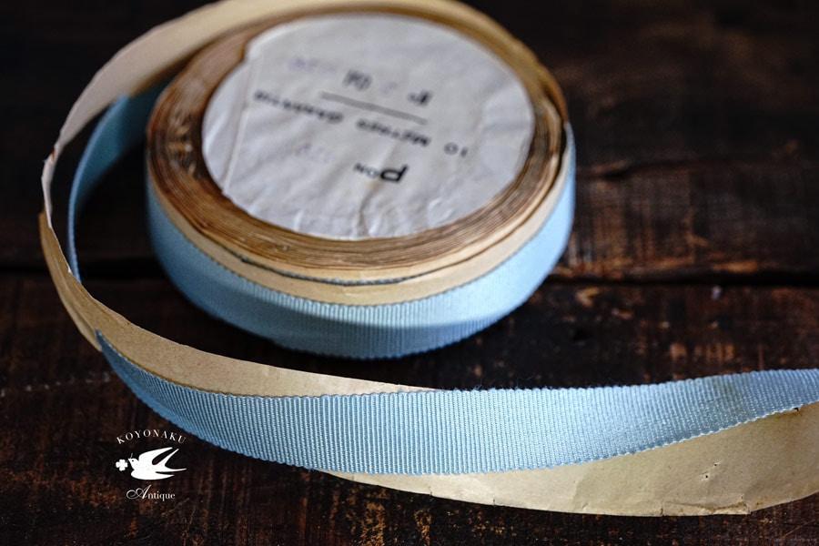ヴィンテージグログランリボン水色1.7×100cm gs-1351