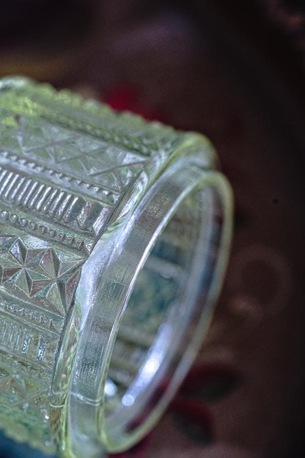 ウランガラスのアールデコトリンケット5点セット 1910−30年代頃 gk-513