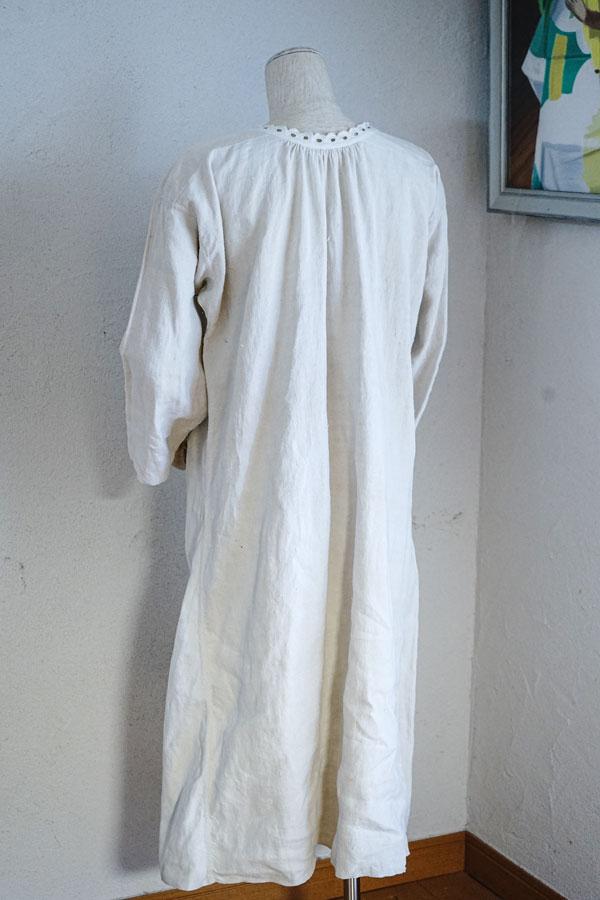 アンティークフレンチ手織りリネンウエア1910−20年代頃 gd-202