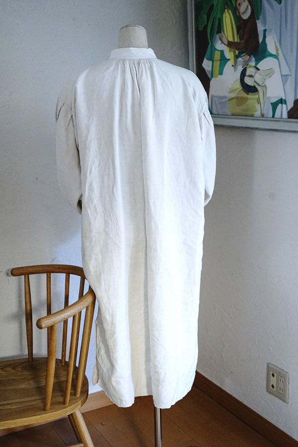 アンティークフレンチ手織りリネンウエア1900年代前後頃 フリーサイズ gd-203