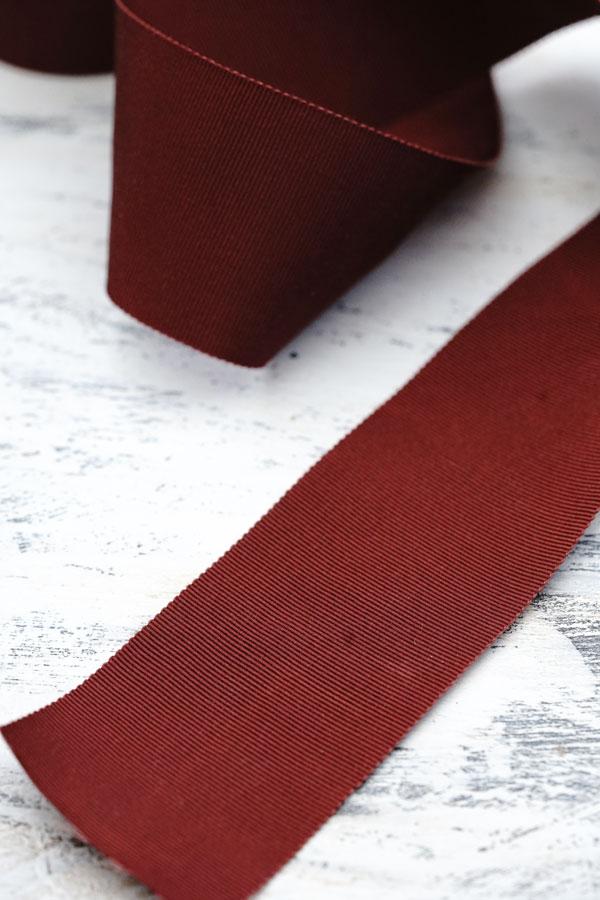 ヴィンテージグログランリボン ブラウンW5×100cm gs-1403