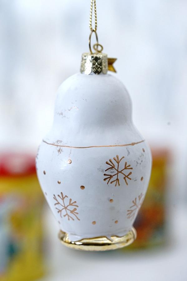 リバティクリスマスガラスオーナメント マトリョーシカH8.8cm gx-475