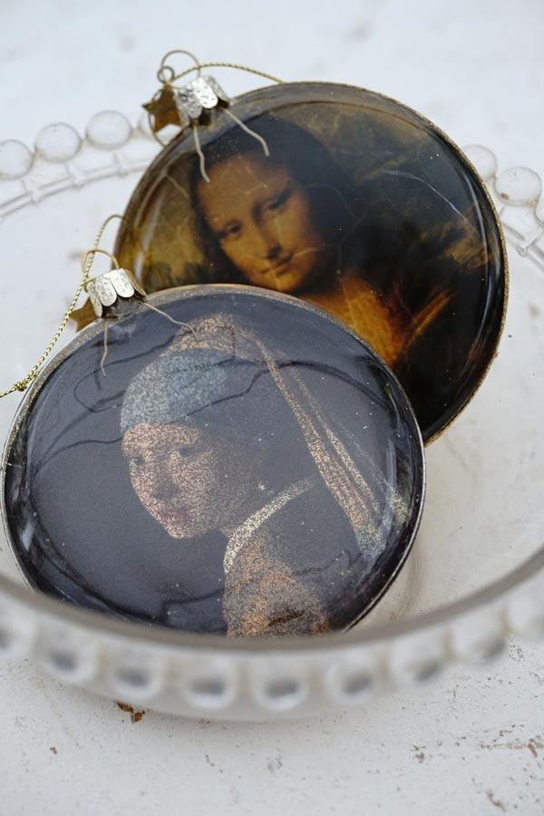 リバティクリスマスガラスオーナメント真珠の耳飾りの少女W10×D2.5cm gx-495