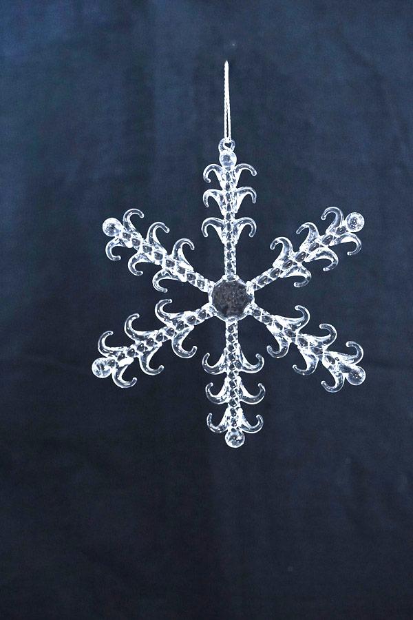 リバティクリスマスガラスオーナメント 雪の結晶W11.7cm gx-498