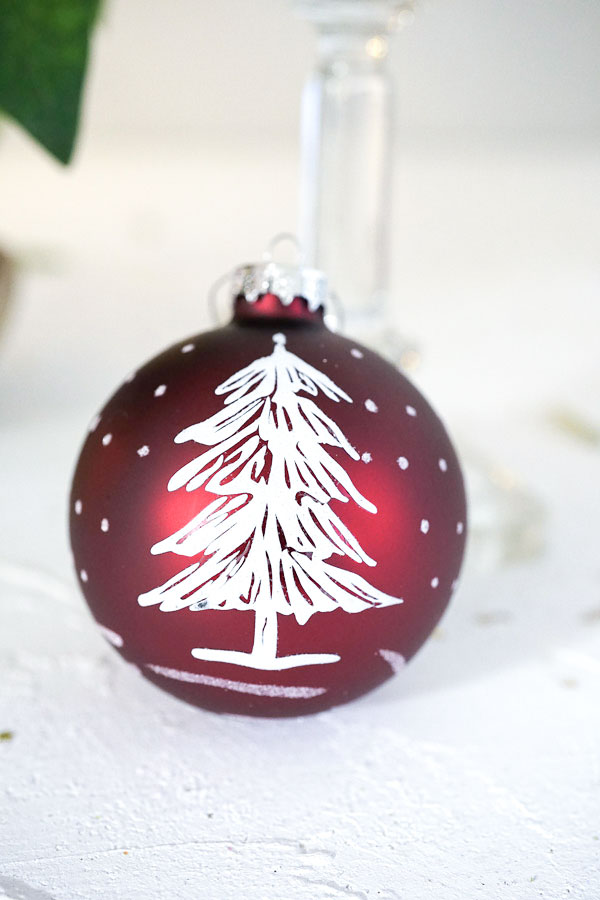 リバティガラスオーナメントクリスマスツリー W8cmgx-391