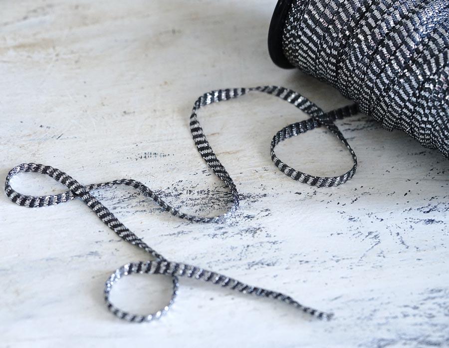 フランスのシルバーラメ糸テープW5mm×100cm gs-1416
