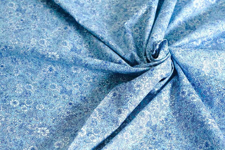 リバティ Londonラセンビーコットン エミリーシルエットフラワー110×50cm gf-684
