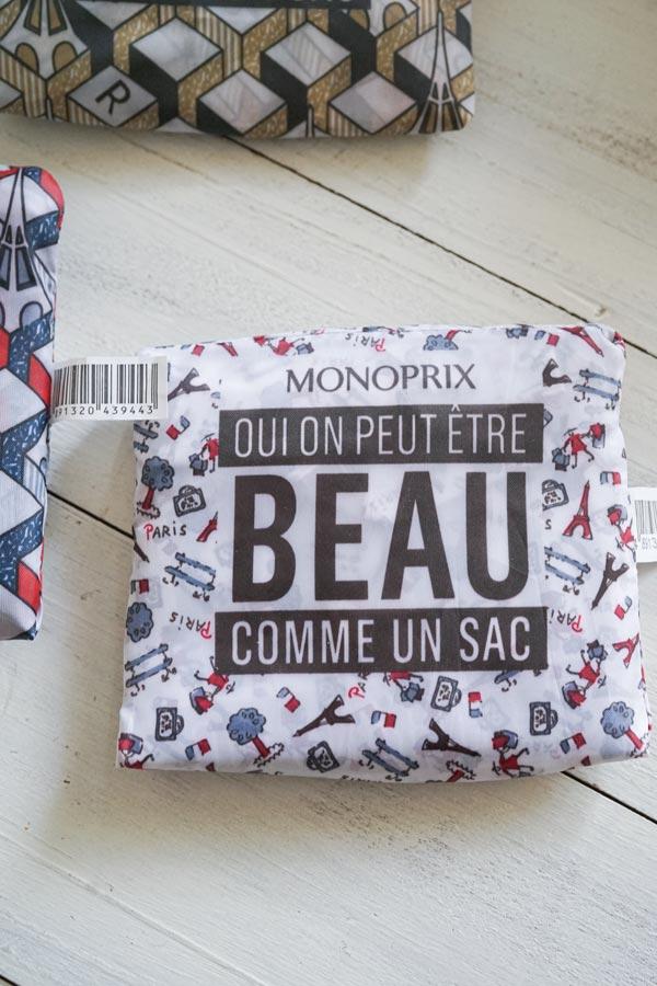 仏MONOPRIXのエッフェル塔エコバッグプレゼント2万円以上お買い上げの方先着6名様