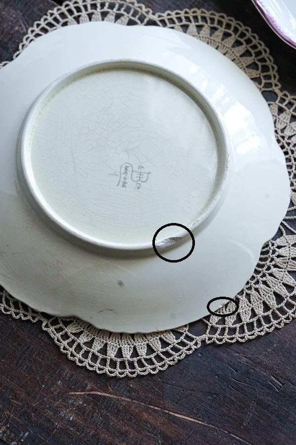 バルボティーヌプレート大皿パンジー 24cmショワジールロワ gc-898