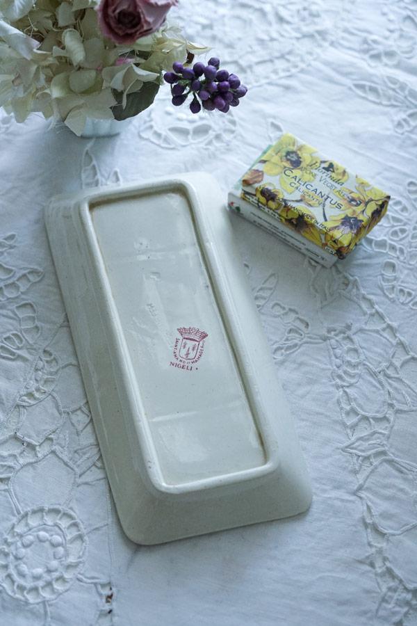 サンタマンのお花モチーフのソープディッシュ22.5×10.5cm gc-914