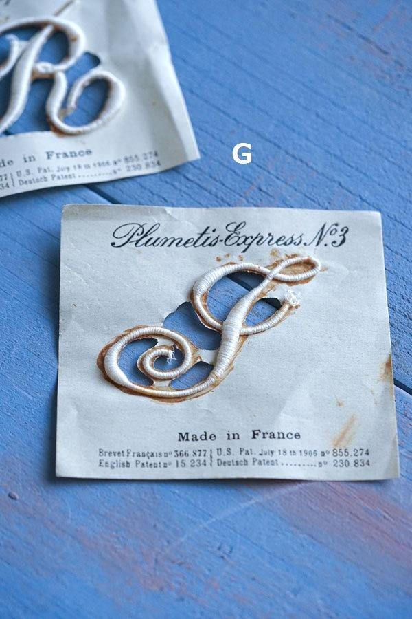 フランスモノグラム刺繍シート8×6.8cm ge-899