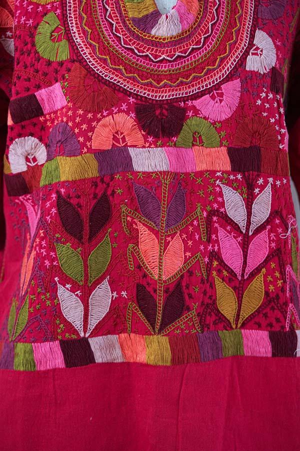 メキシコ刺繍のパステルカラーチュニック 11号サイズ gd-213