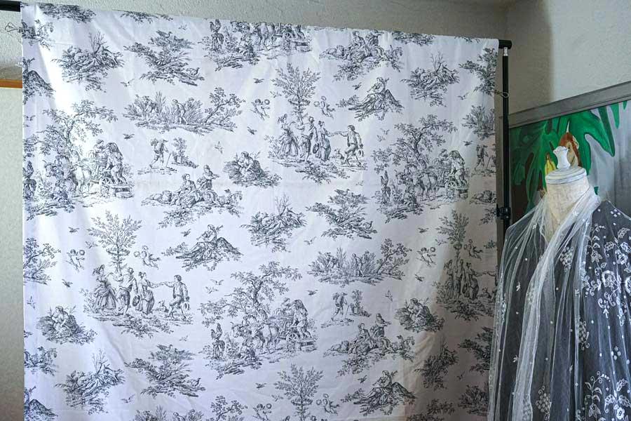 シックなトワルドジョイのカーテンW130×240cm gf-710_1