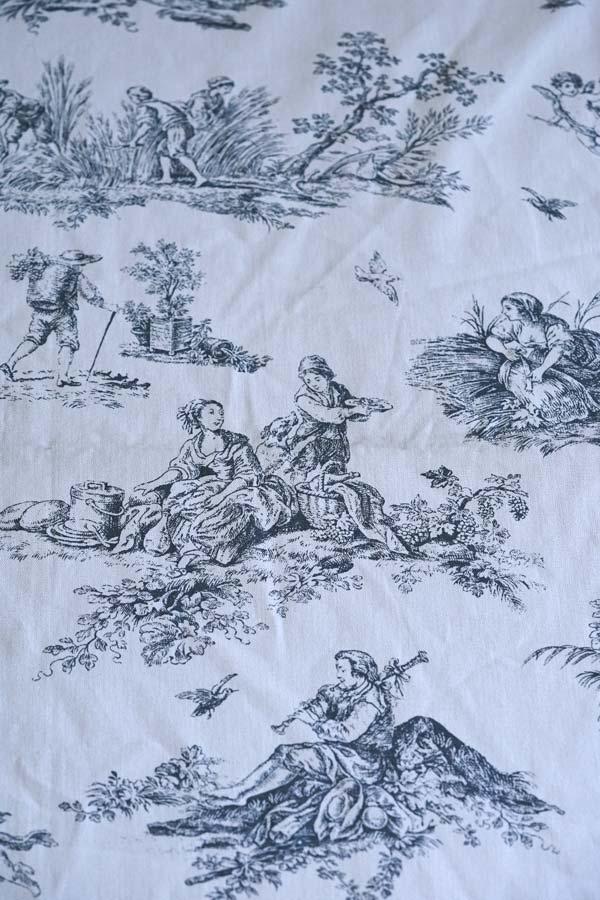 シックなトワルドジョイのカーテンW130×240cm gf-710