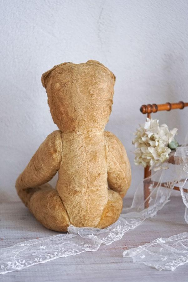 フランスのクマのプーさんのようなベージュベア1930−40年代頃 52cm gt-927