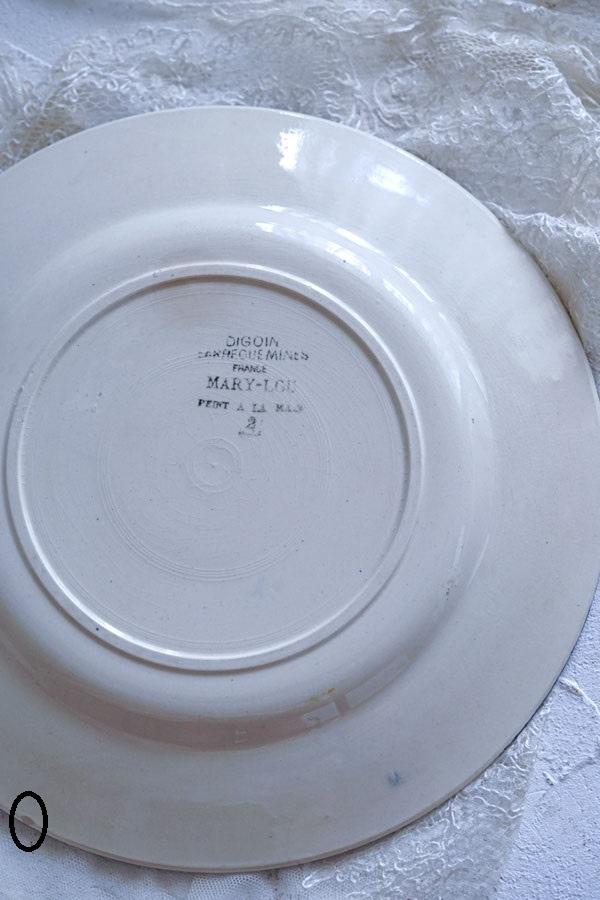 フランス MARY LOU DIGOIN SARREGUEMINESサルグミンヌ製22.5cm平皿gc-956