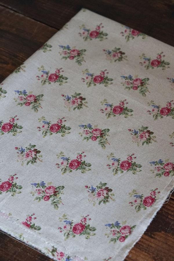 ヴィンテージ薔薇のフレンチファブリック110×155cm gf-720