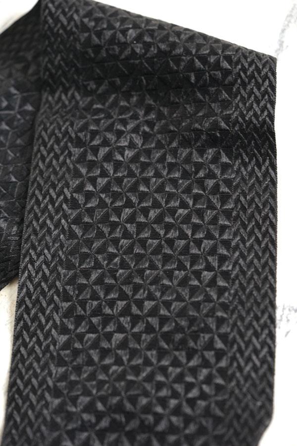 アンティーク織りが美しいブラックシルクリボン12×285cm gs-1460