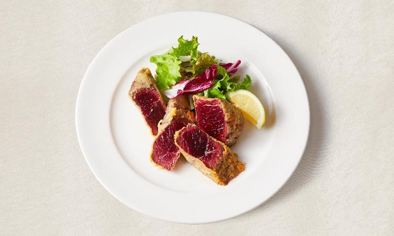 鯨赤肉のパルマ焼き