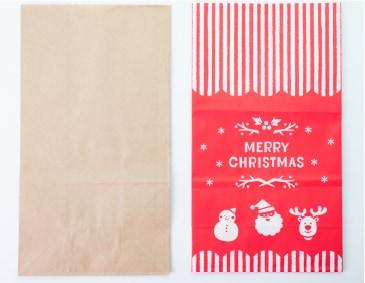 同封袋/左:クラフト 右:クリスマス