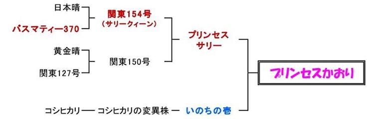 プリンセスかおりの系統図