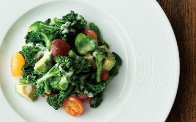 野菜をゆでてかけるだけ! フレンチドレッシング「ネギネージュ」を使って温野菜サラダ!