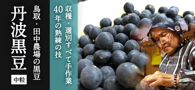【中粒】丹波黒豆【色つや・香り・口当たり すべてそろった至高の一品】メインイメージ