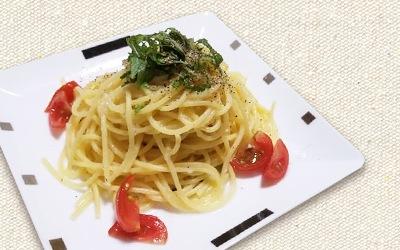 フレンチドレッシング「ネギネージュ」を使ってトマトと大葉の冷製パスタ