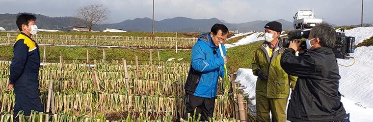 BSS山陰放送「テレポート山陰」にて極寒越冬白ねぎをご紹介いただきます!