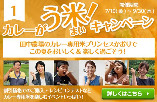 カレーがう米キャンペーン!田中農場のカレー専用米プリンセスかおりでこの夏をおいしく&楽しく過ごそう!
