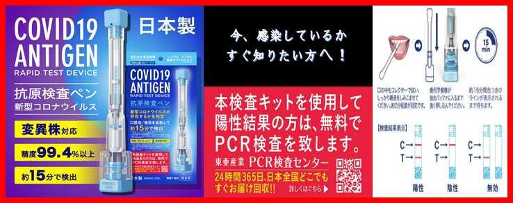 日本製PCR検査キット
