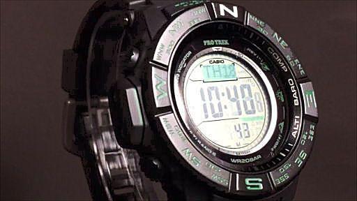カシオ プロトレック デジタルソーラー電波腕時計 CASIO PRO TREK PRW-S3500-1JF
