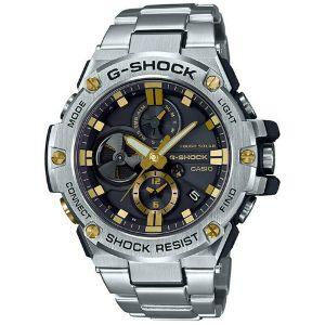 カシオGショックGスチール ソーラー腕時計 GST-B100D-1A9JF スマートフォン リンク