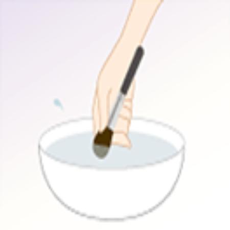 ブラシの洗い方1