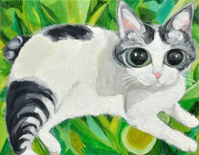 石原英介「始まりの猫」の画像
